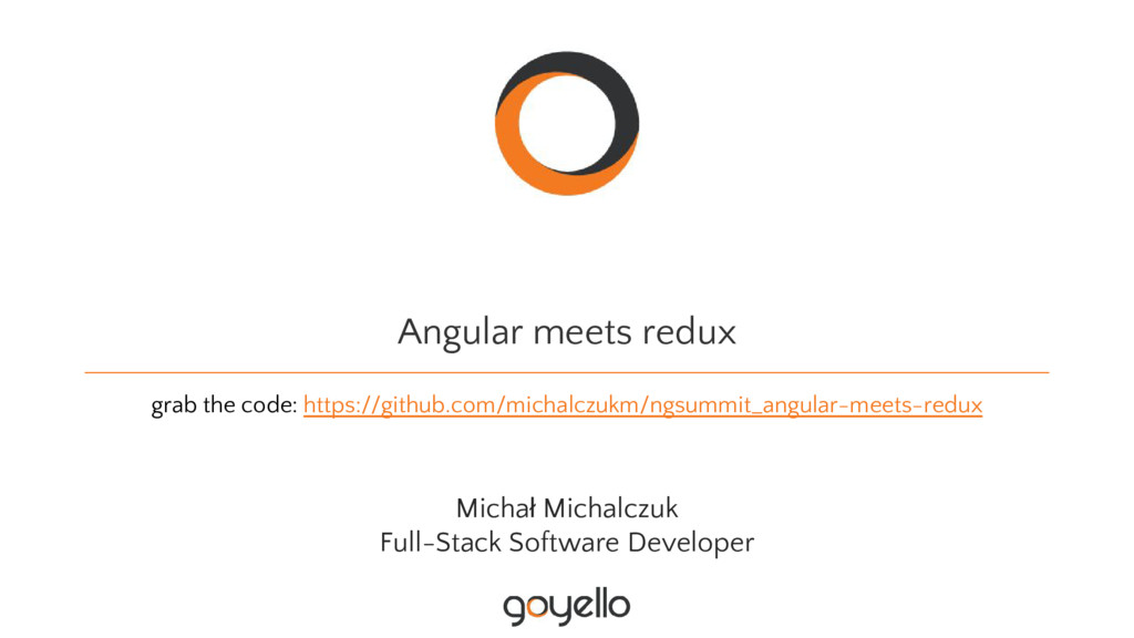 Angular meets redux grab the code: https://gith...