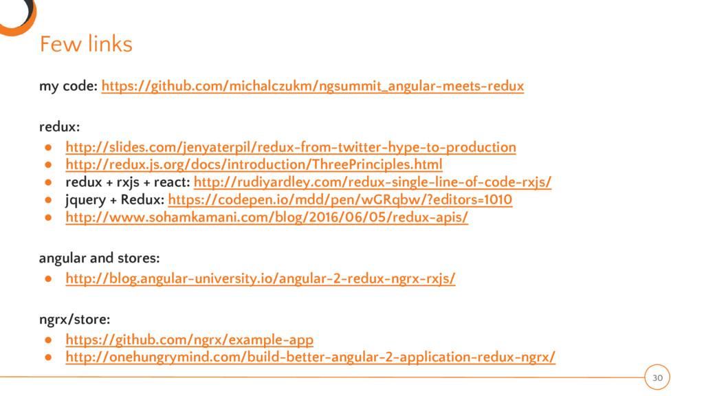 Few links 30 my code: https://github.com/michal...