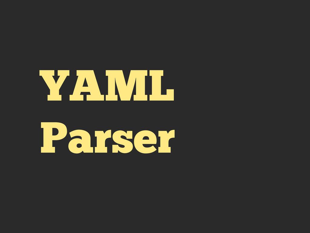 YAML Parser