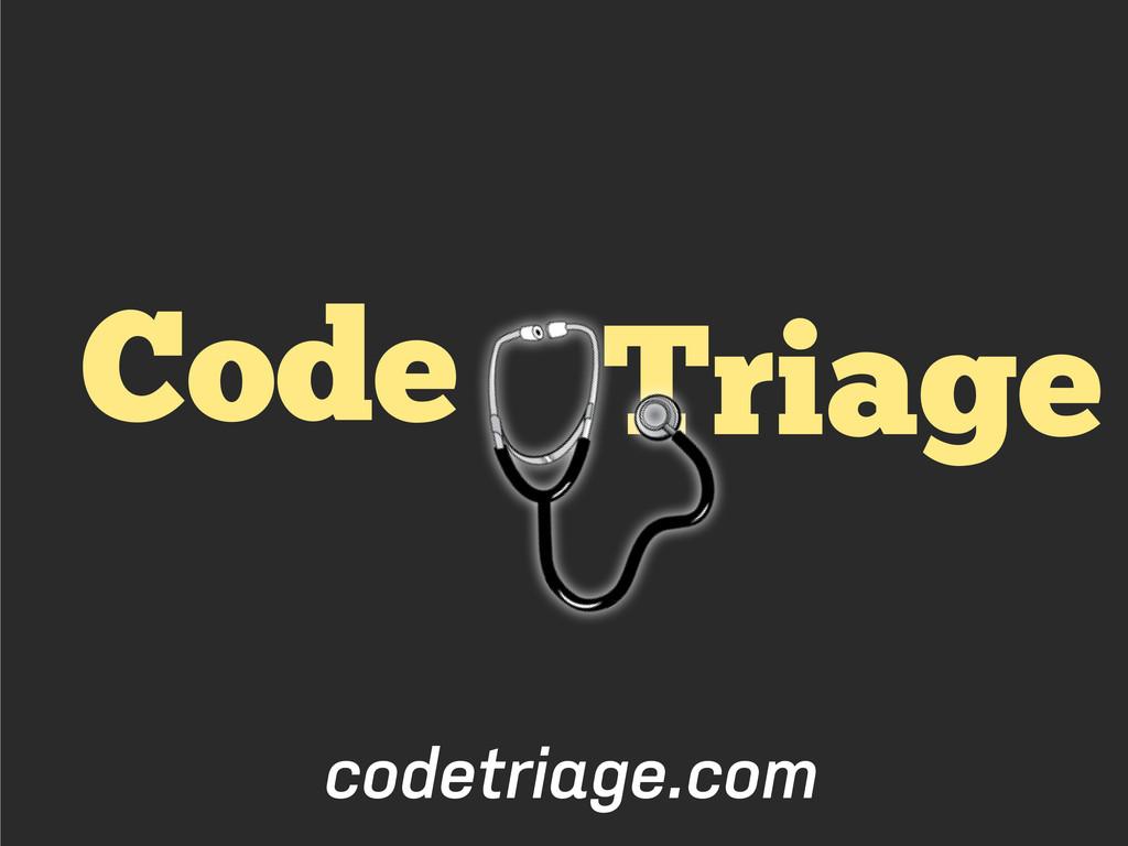 Triage Code codetriage.com