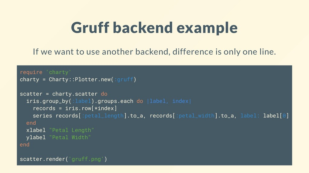 Gruff backend example If we want to use another...