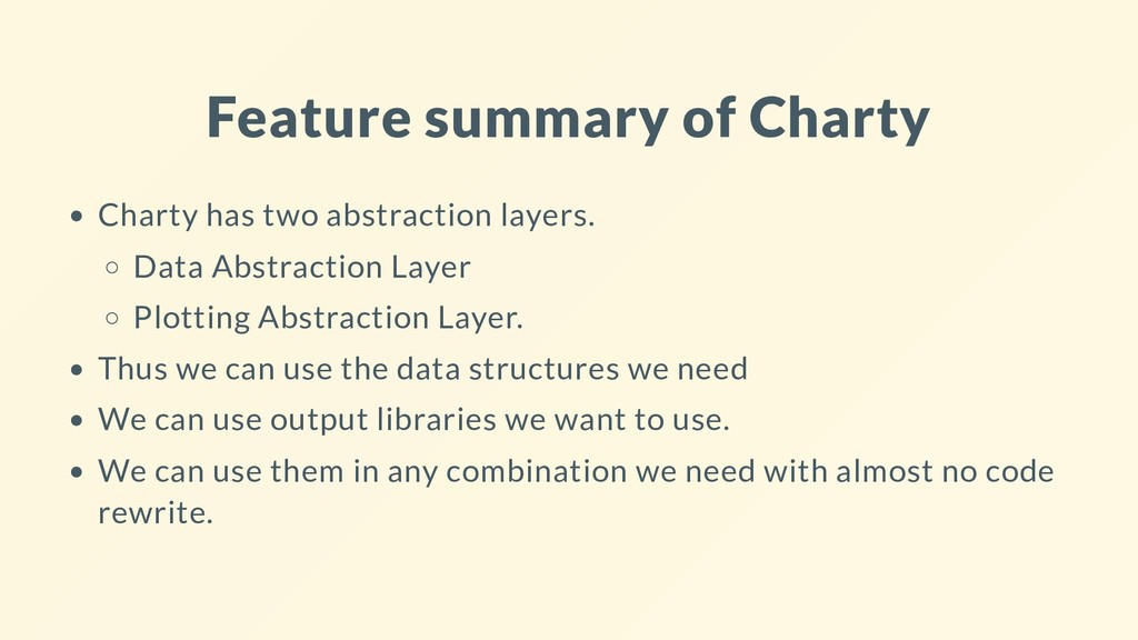 Feature summary of Charty Charty has two abstra...