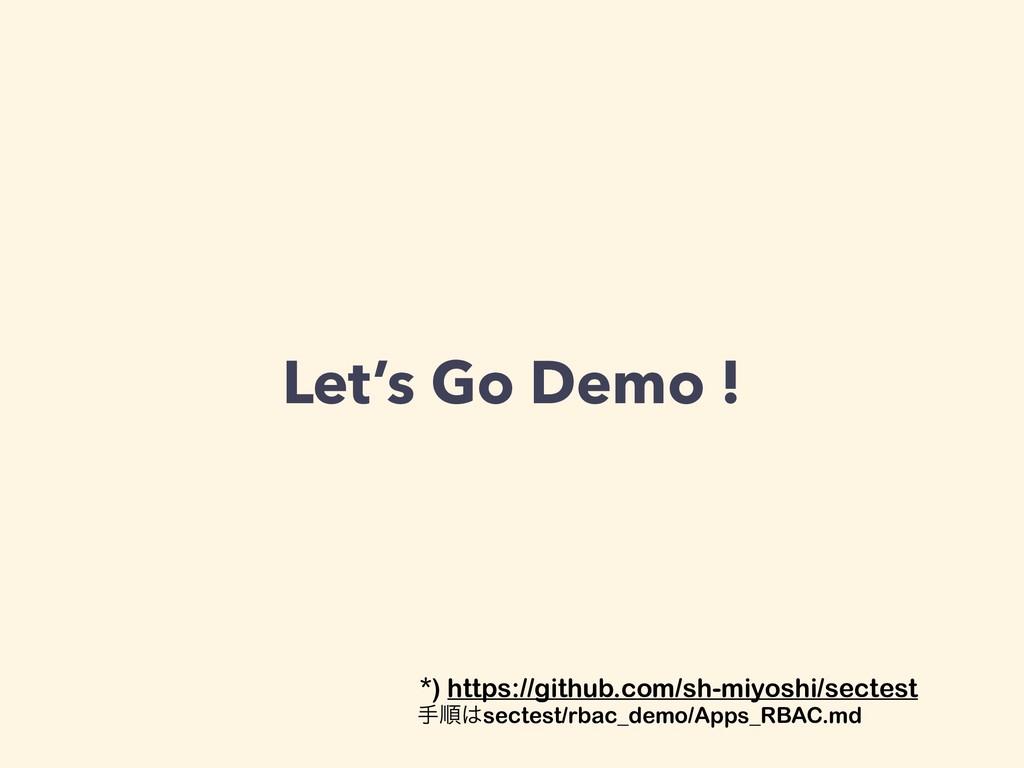 Let's Go Demo ! *) https://github.com/sh-miyosh...