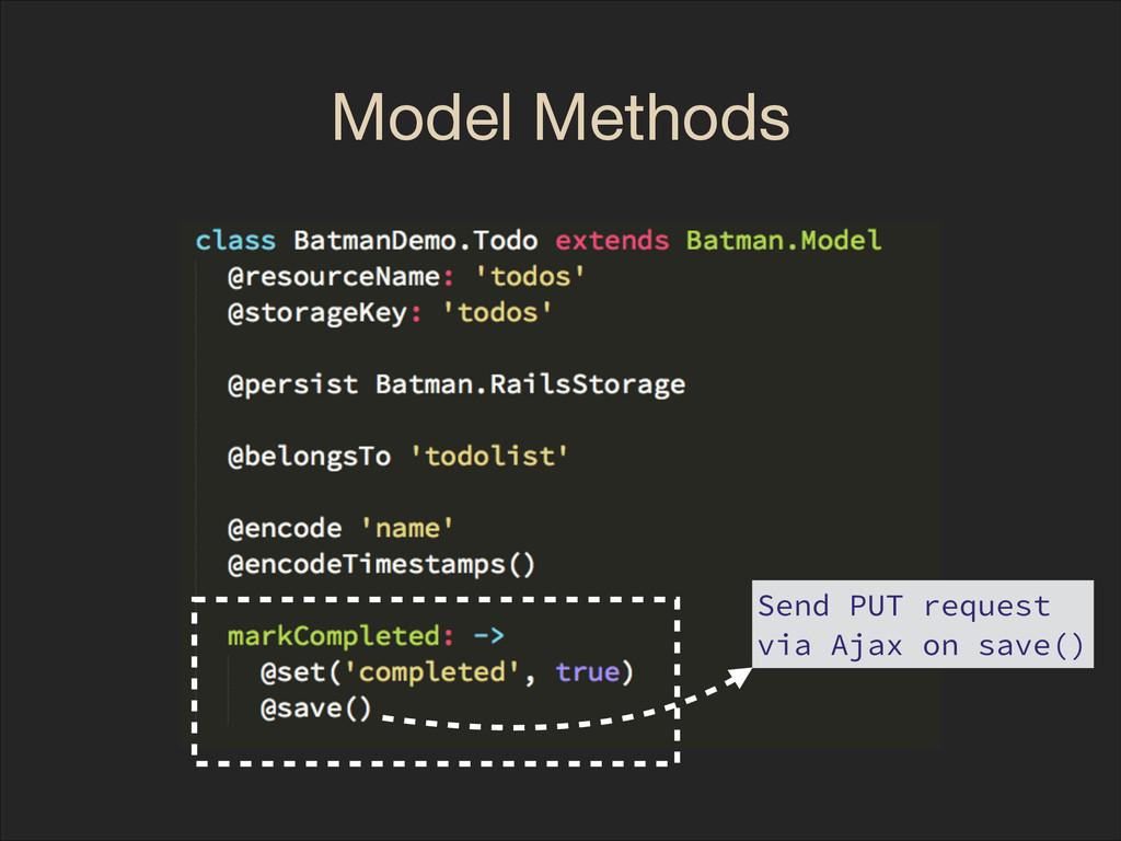 Model Methods Send PUT request via Ajax on save...