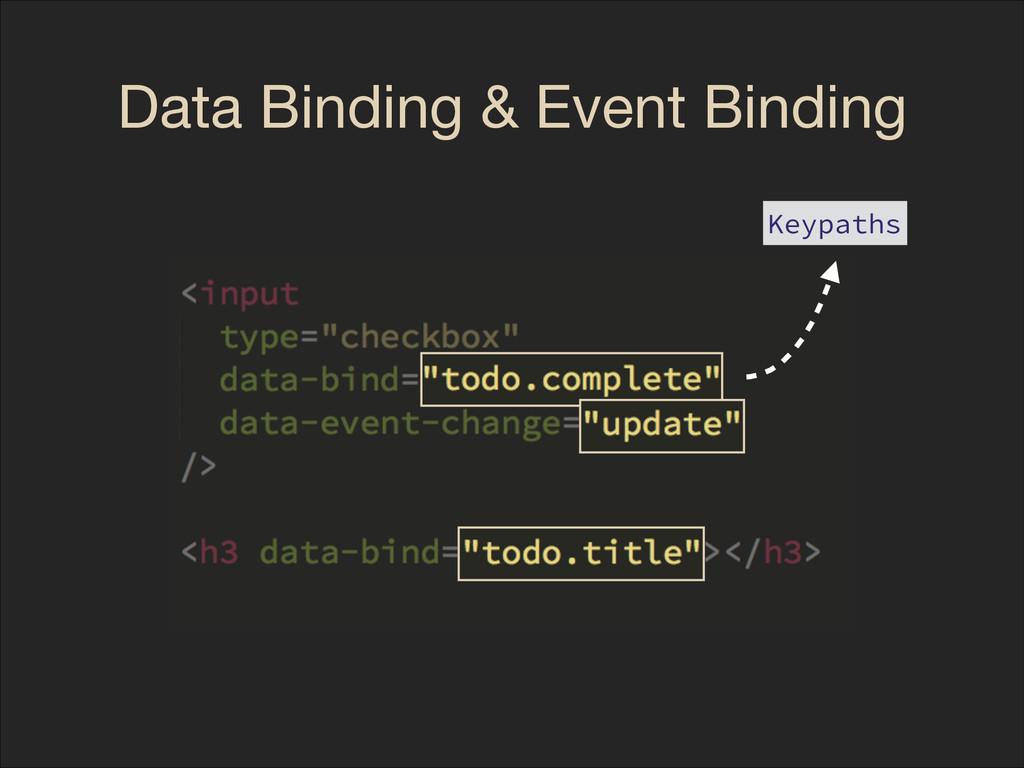 Data Binding & Event Binding Keypaths