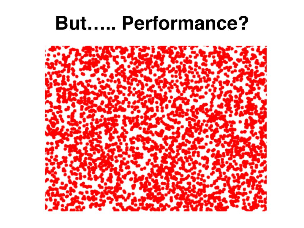 But….. Performance?