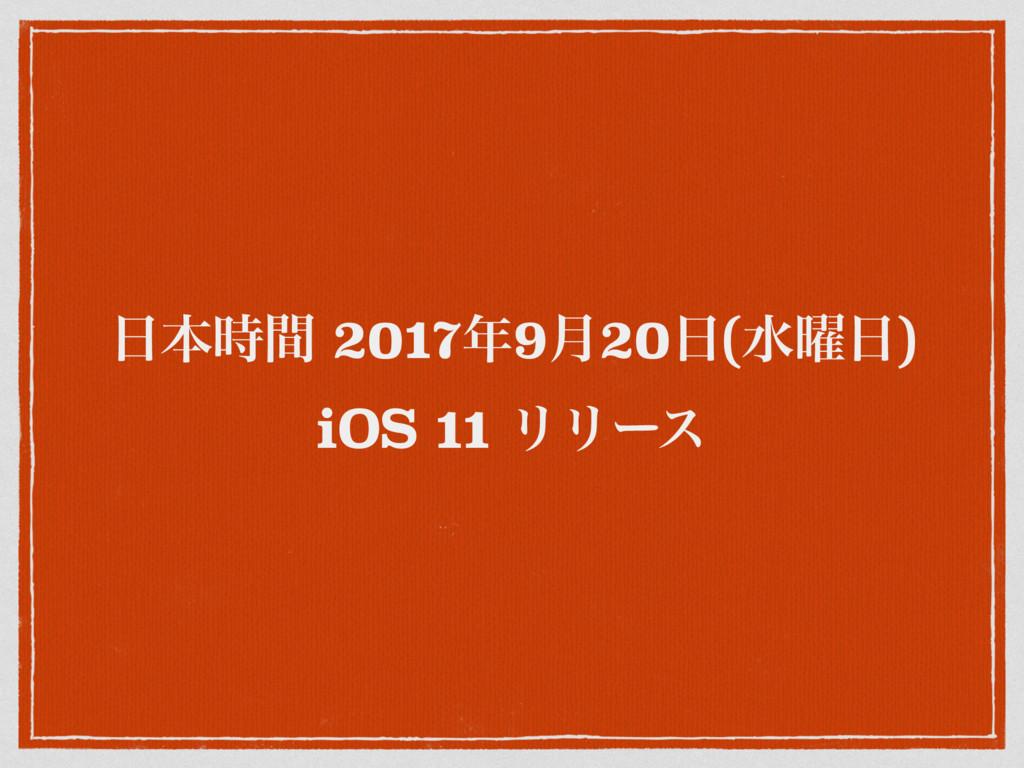 ຊؒ 20179݄20(ਫ༵) iOS 11 ϦϦʔε