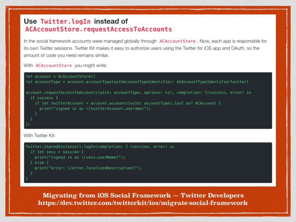 Migrating from iOS Social Framework — Twitter D...