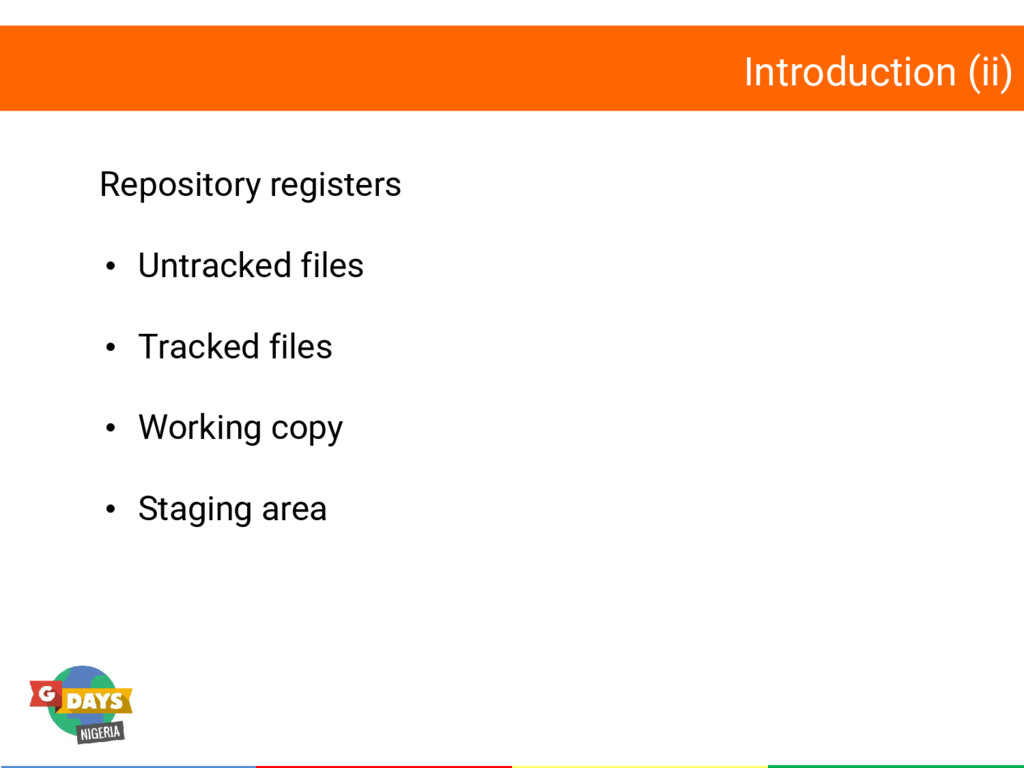 Introduction (ii) Repository registers • Untrac...