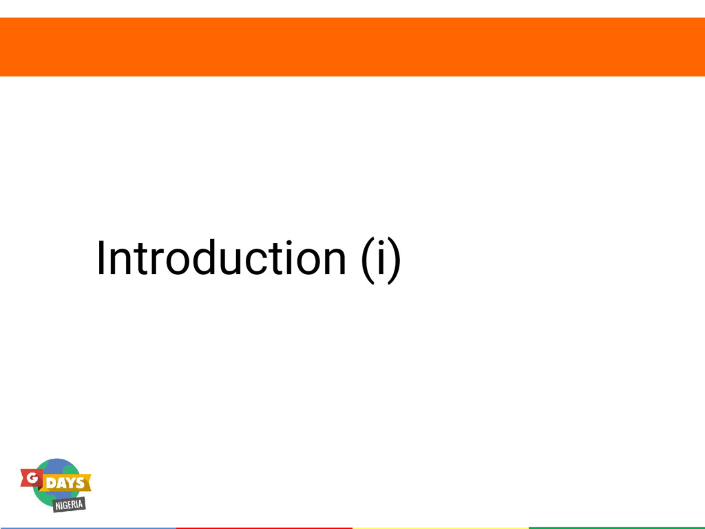 Introduction (i)