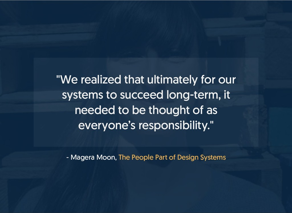 """- Magera Moon, """"We realized that ultimately for..."""