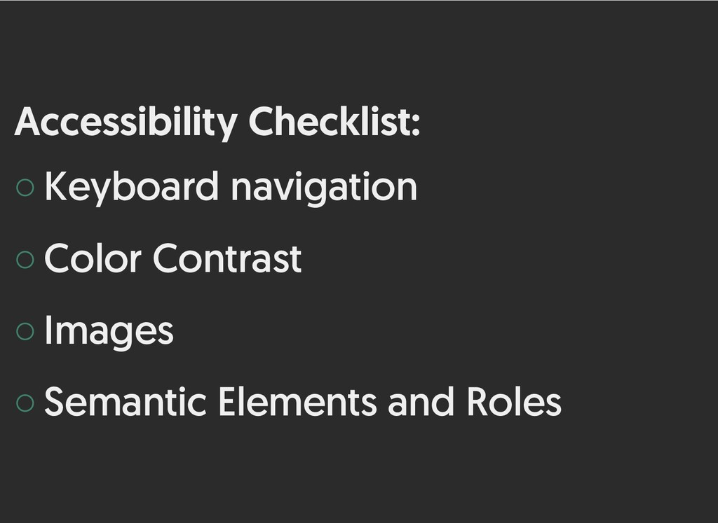 Accessibility Checklist: Accessibility Checklis...