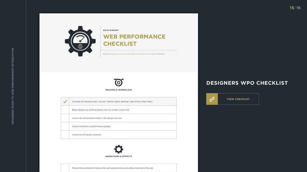 DESIGNERS GUIDE TO WEB PERFORMANCE OPTIMIZATION...