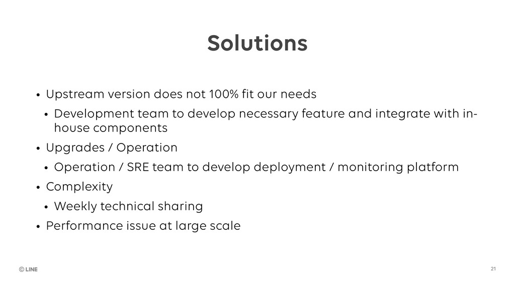 Solutions • Upstream version does not 100% fit ...