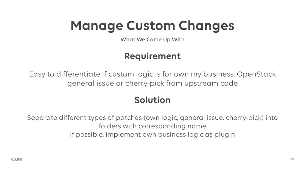 Manage Custom Changes 28 What We Come Up With R...