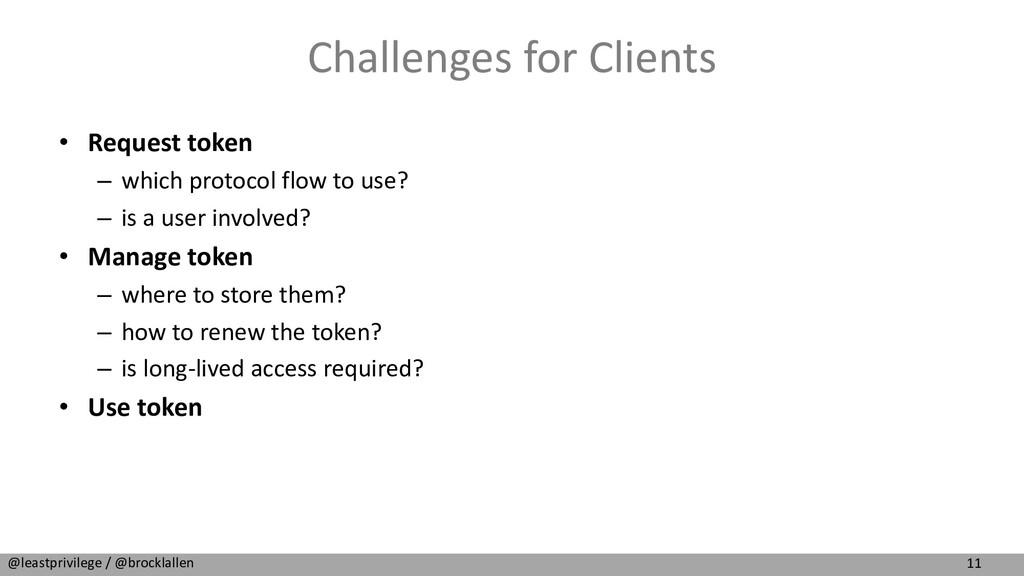 11 @leastprivilege / @brocklallen Challenges fo...