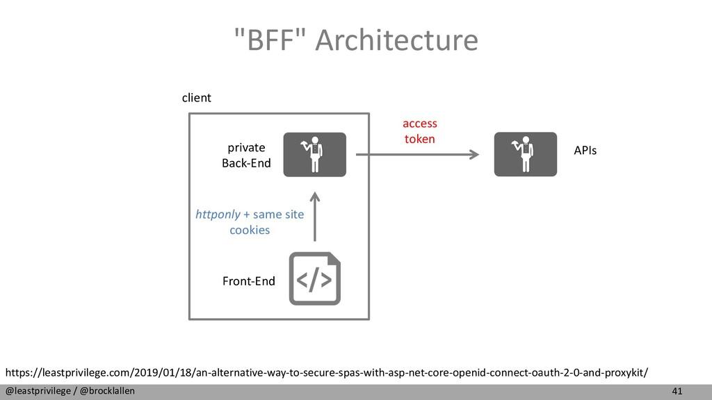 """41 @leastprivilege / @brocklallen """"BFF"""" Archite..."""