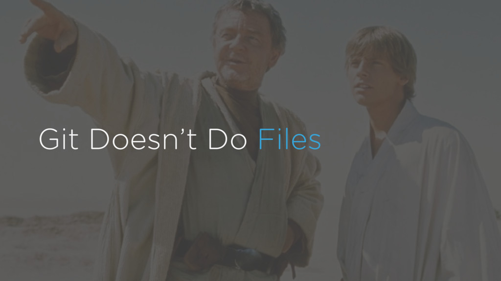 Git Doesn't Do Files