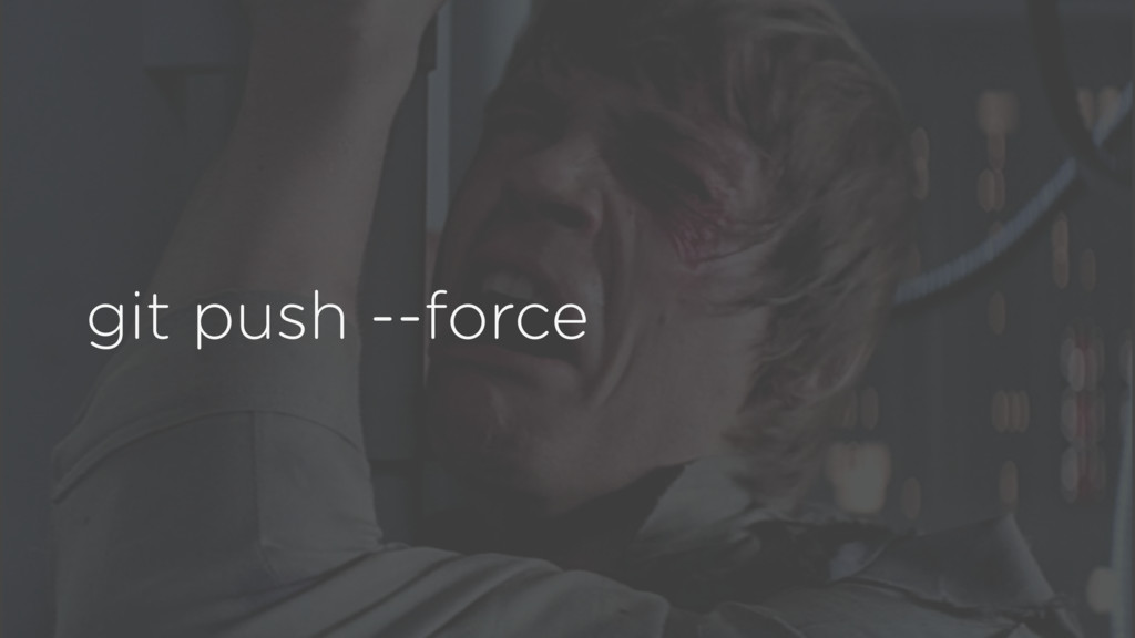 git push --force