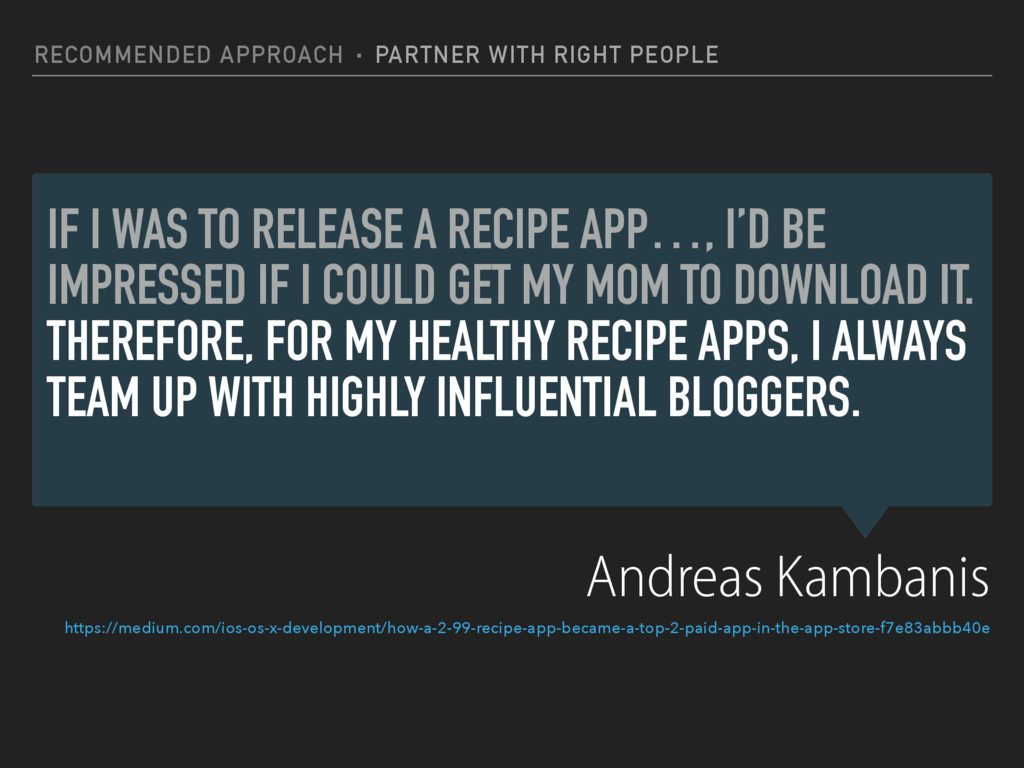 IF I WAS TO RELEASE A RECIPE APP…, I'D BE IMPRE...