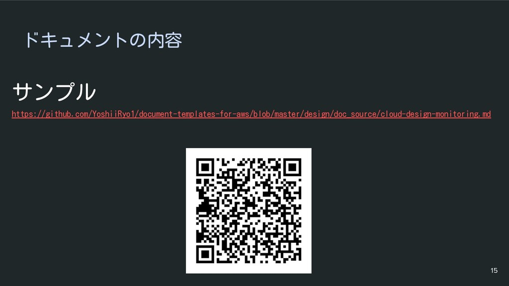 ドキュメントの内容 サンプル https://github.com/YoshiiRyo1/do...