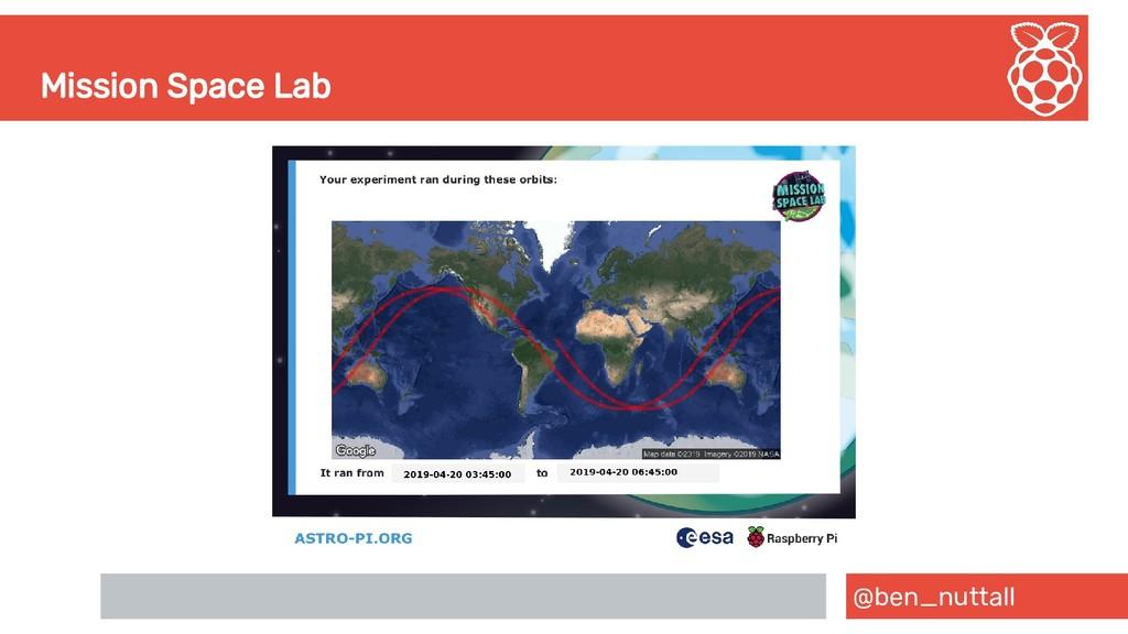 @ben_nuttall Mission Space Lab