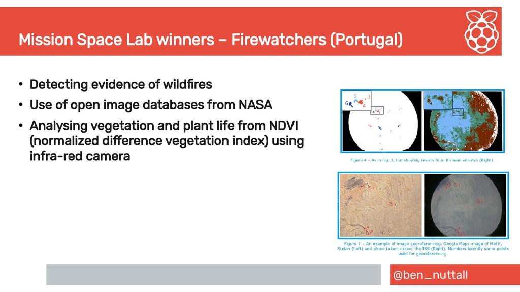 @ben_nuttall Mission Space Lab winners – Firewa...
