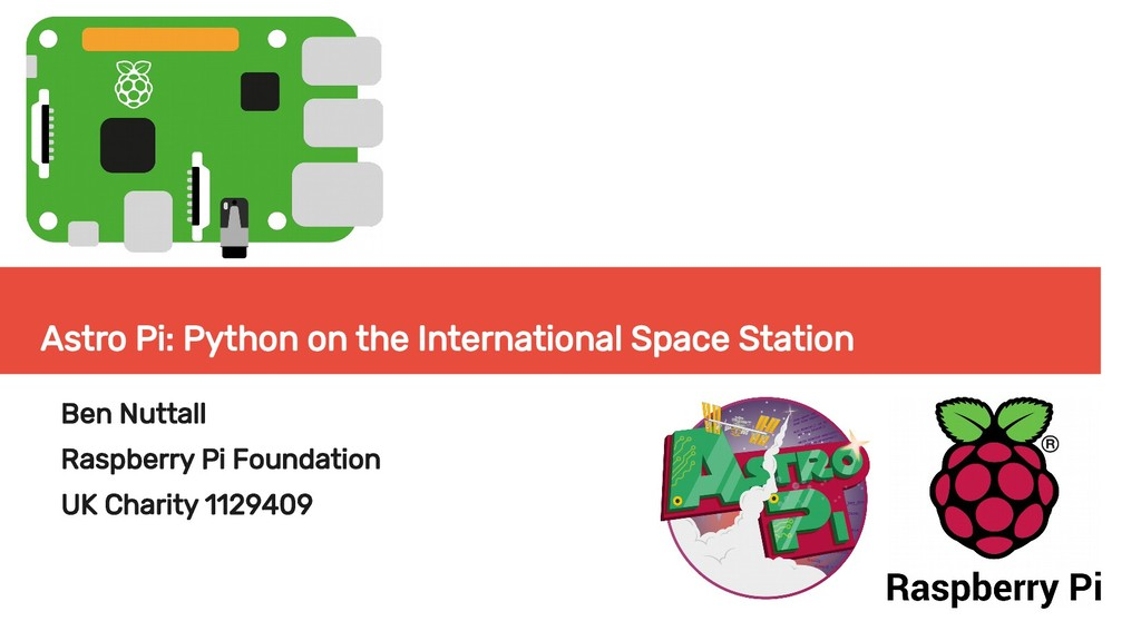 Astro Pi: Python on the International Space Sta...
