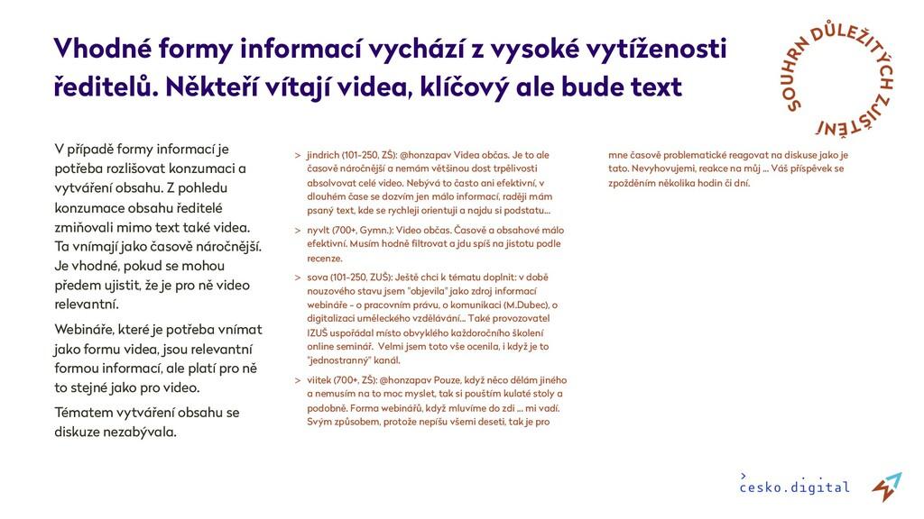 V případě formy informací je potřeba rozlišovat...