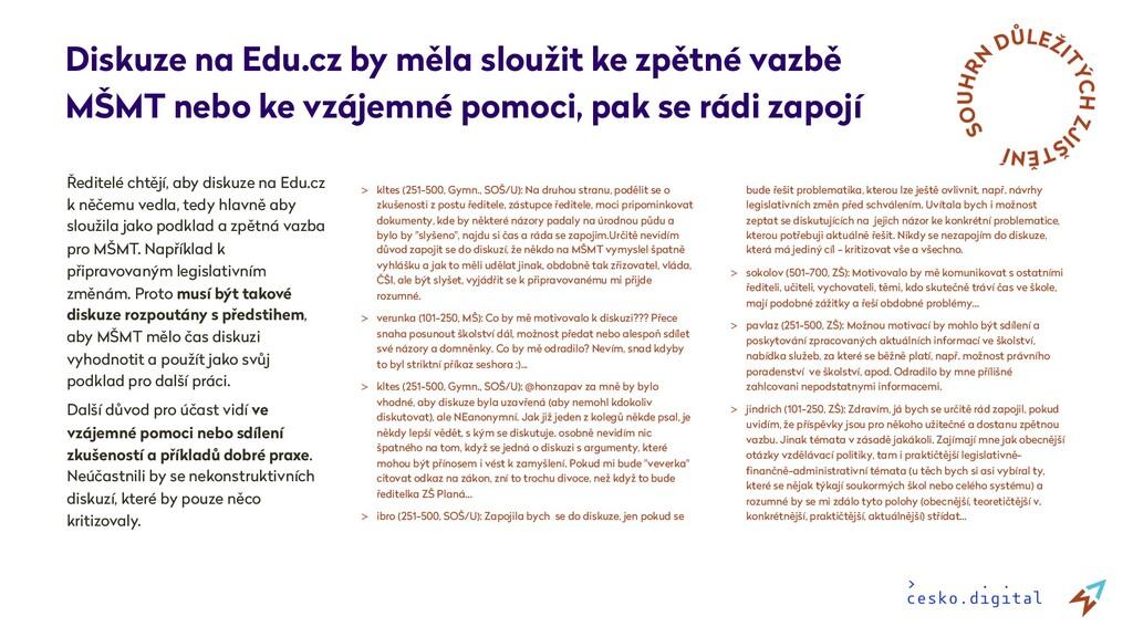 Ředitelé chtějí, aby diskuze na Edu.cz k něčemu...
