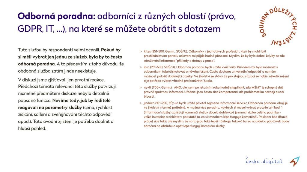 Odborná poradna: odborníci z různých oblastí (p...