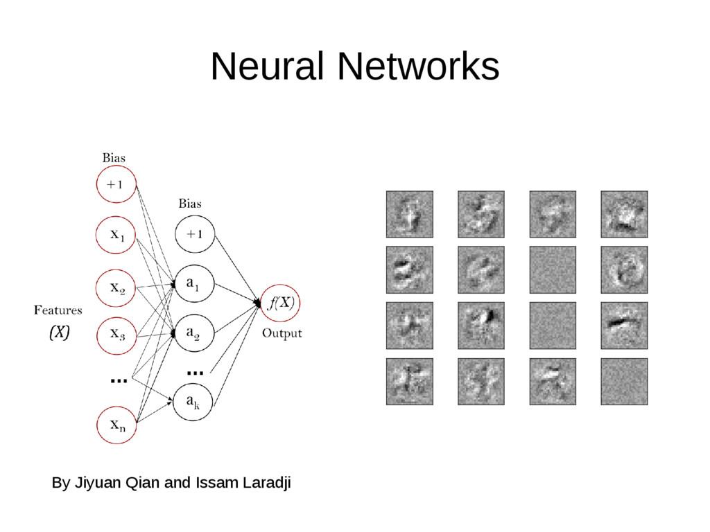 Neural Networks By Jiyuan Qian and Issam Laradji