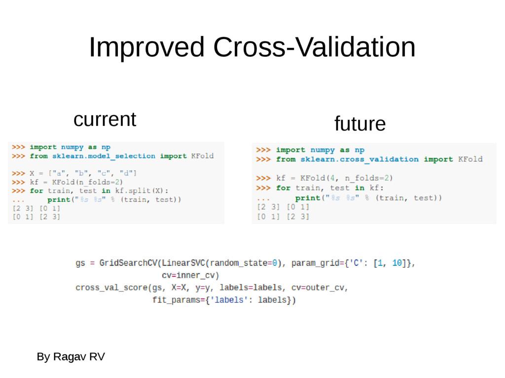 Improved Cross-Validation By Ragav RV current f...