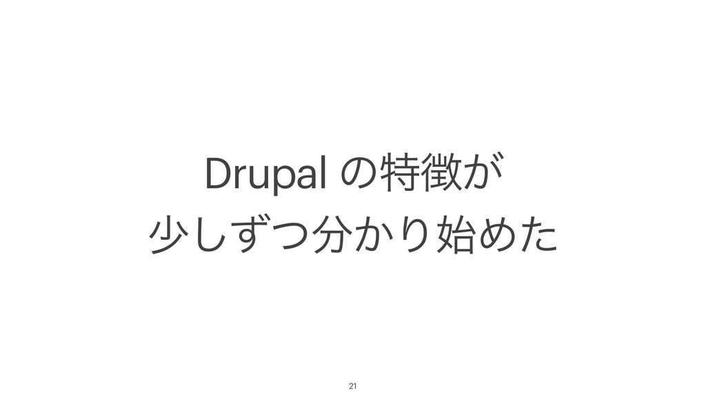 Drupal ͷಛ͕ গ͔ͣͭ͠ΓΊͨ 21
