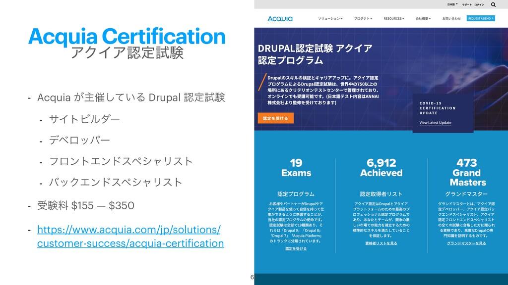 Acquia Certification - Acquia ͕ओ࠵͍ͯ͠Δ Drupal ఆ...
