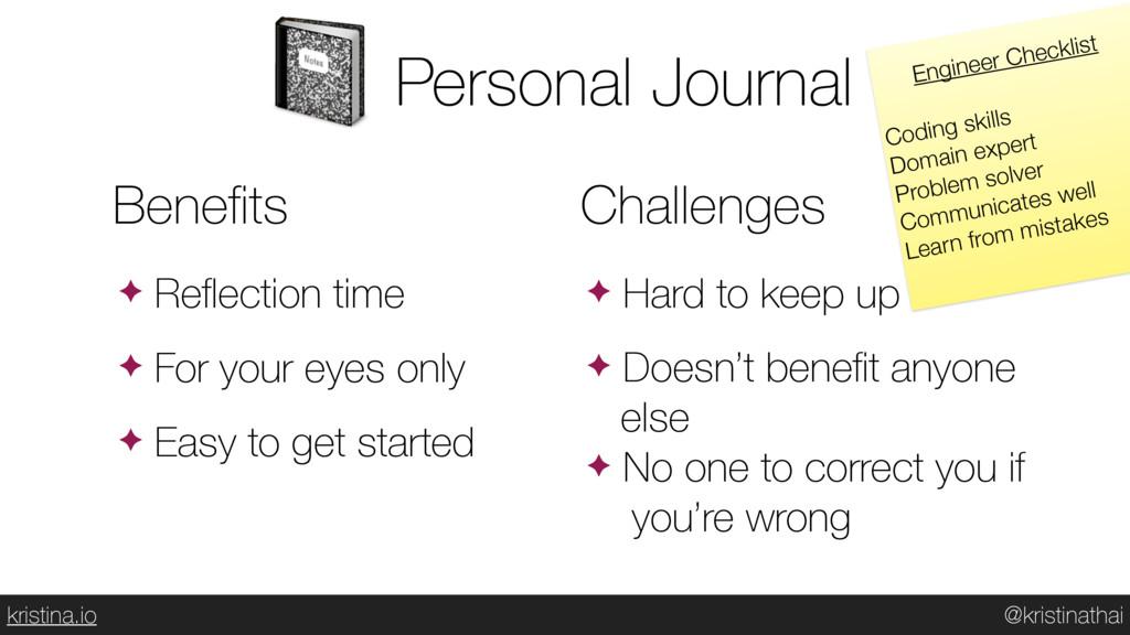 @kristinathai kristina.io Personal Journal  Ben...