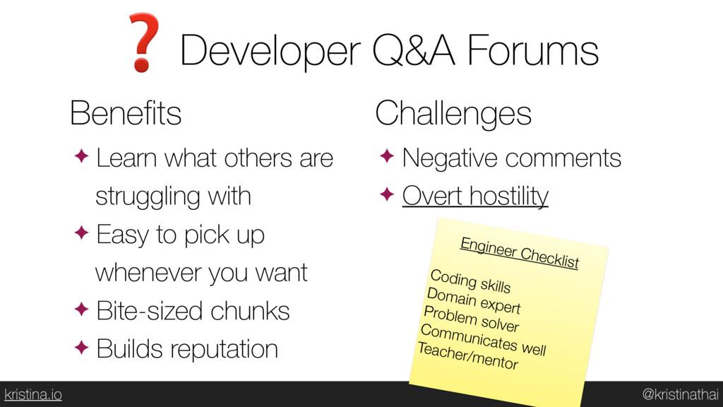 @kristinathai kristina.io Developer Q&A Forums ...