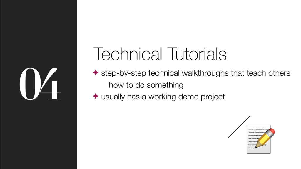 04 Technical Tutorials ✦ step-by-step technical...