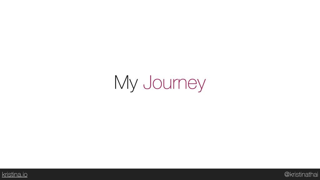 @kristinathai kristina.io My Journey