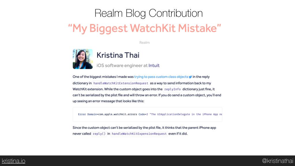 @kristinathai kristina.io Realm Blog Contributi...