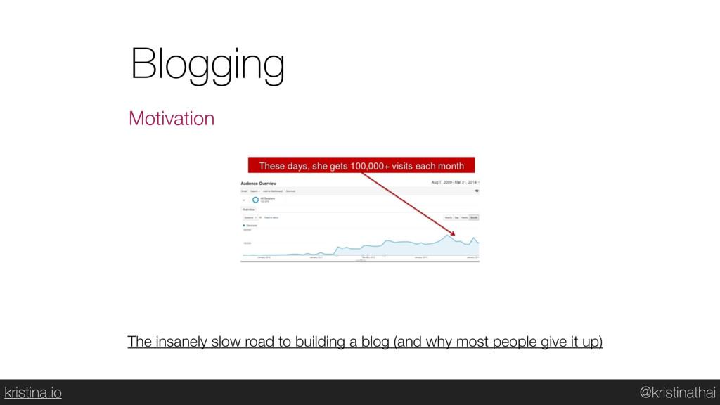 @kristinathai kristina.io Blogging Motivation T...