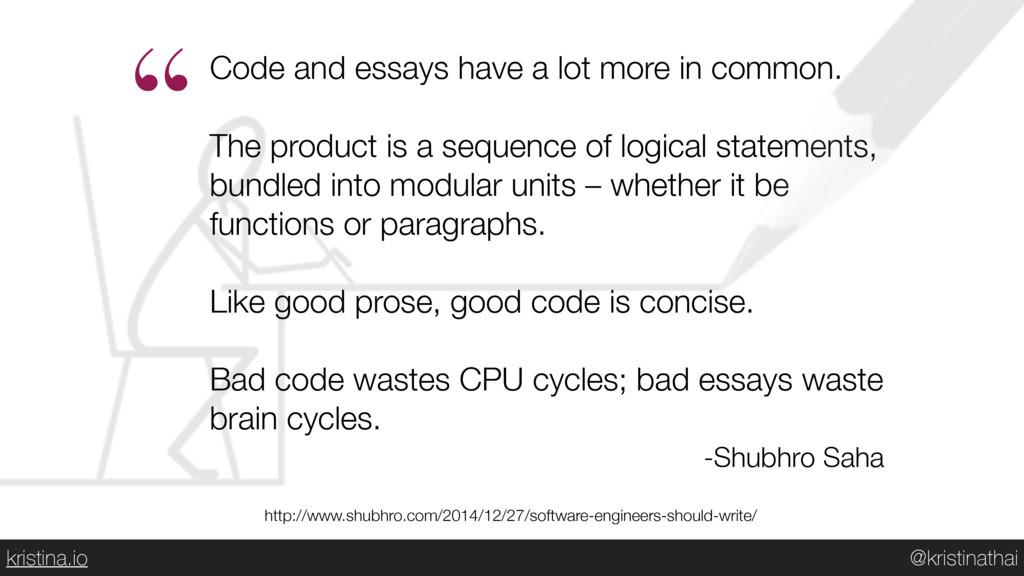 @kristinathai kristina.io Code and essays have ...