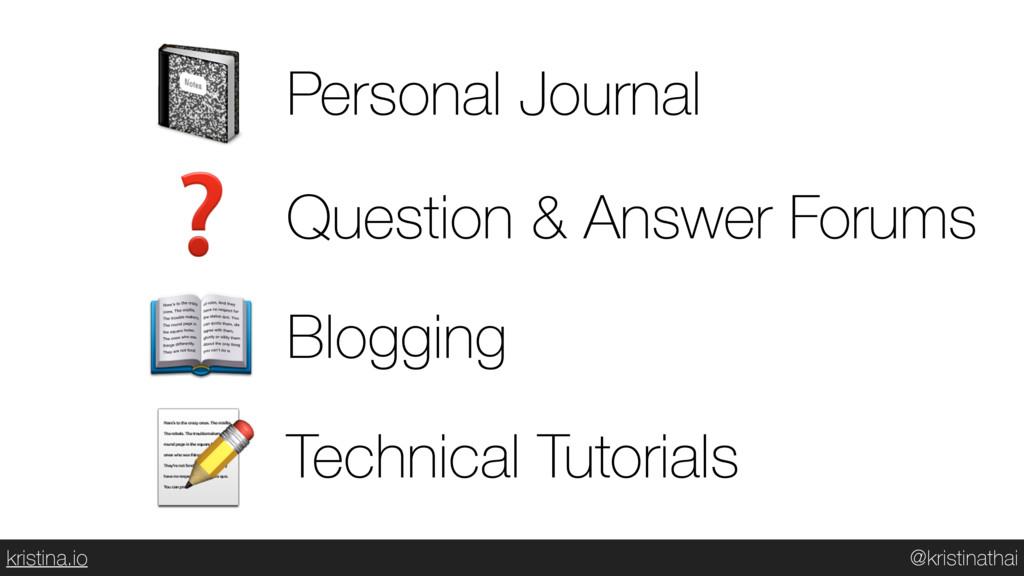 @kristinathai kristina.io  Personal Journal ❓ Q...