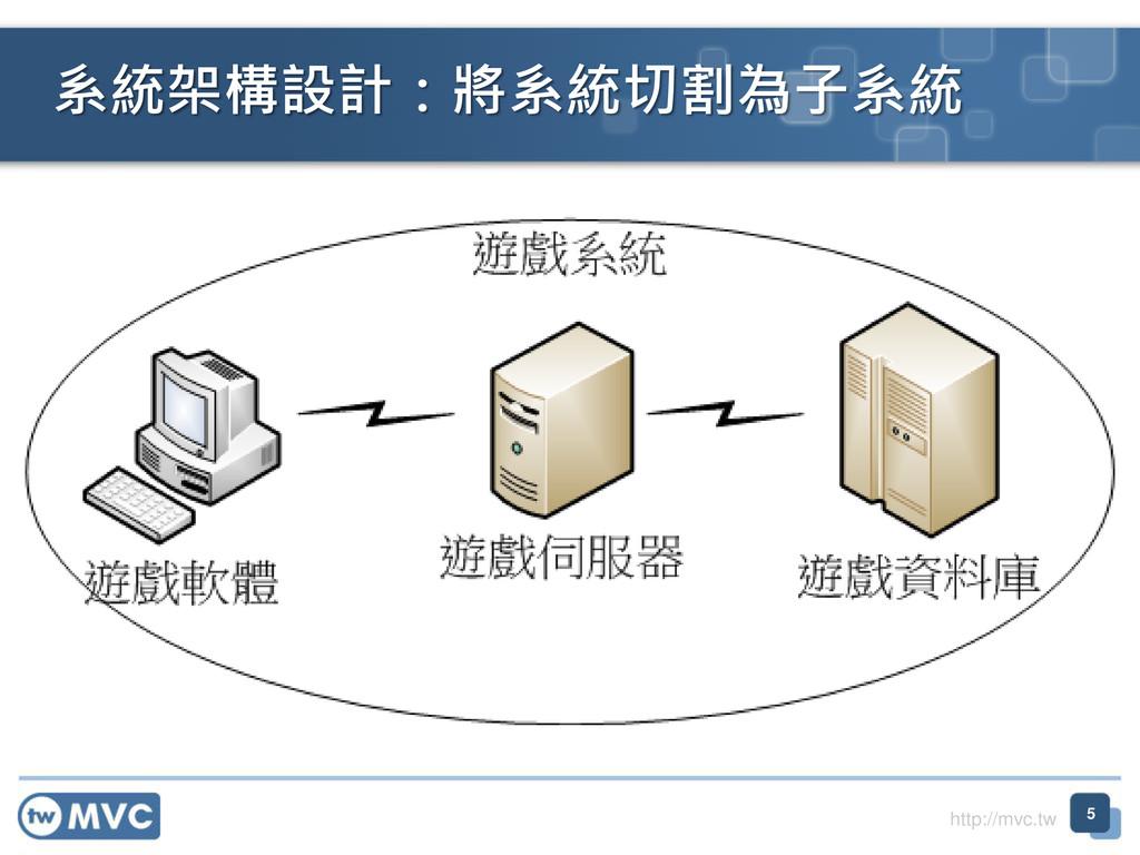 http://mvc.tw 系統架構設計:將系統切割為子系統 5