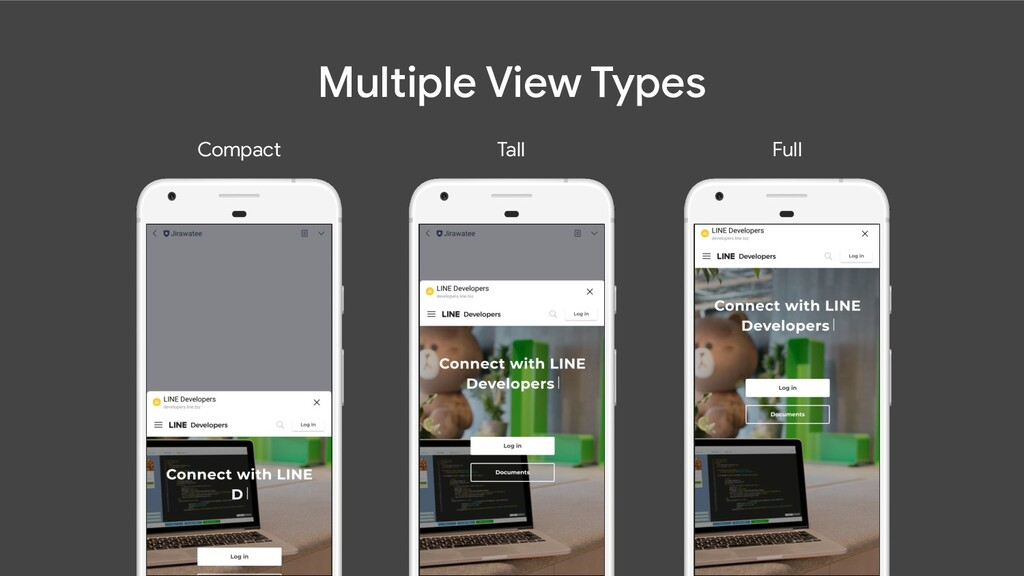 Multiple View Types Compact Full Tall