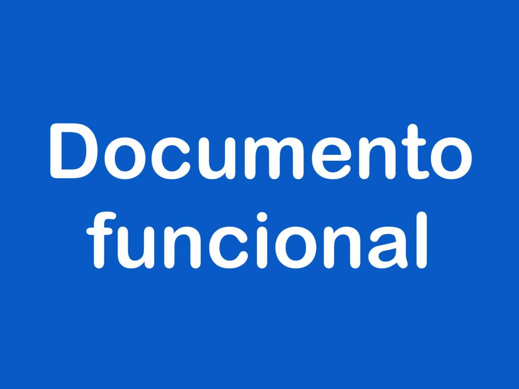 Documento funcional