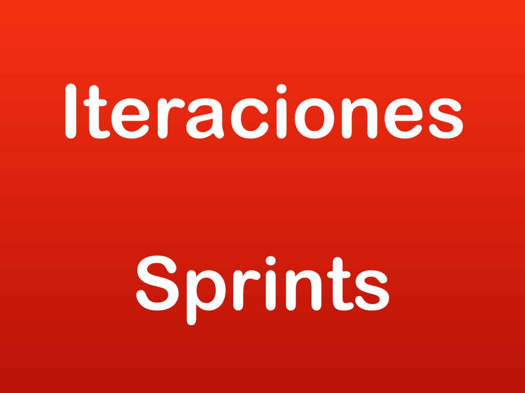 Iteraciones Sprints