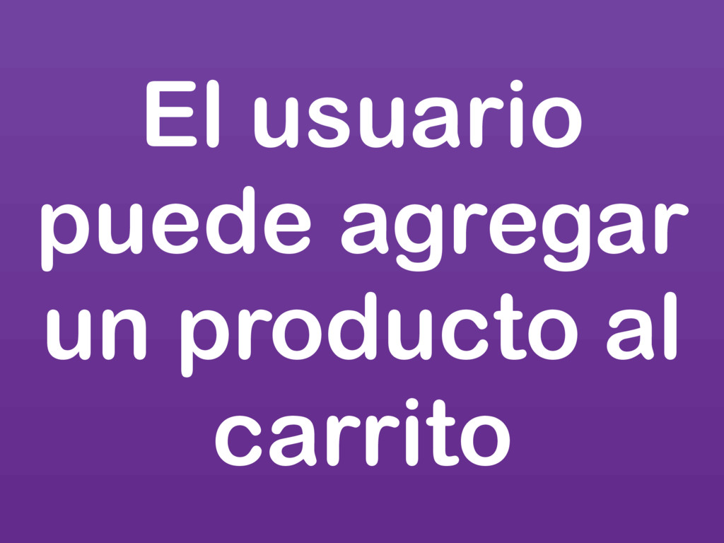 El usuario puede agregar un producto al carrito
