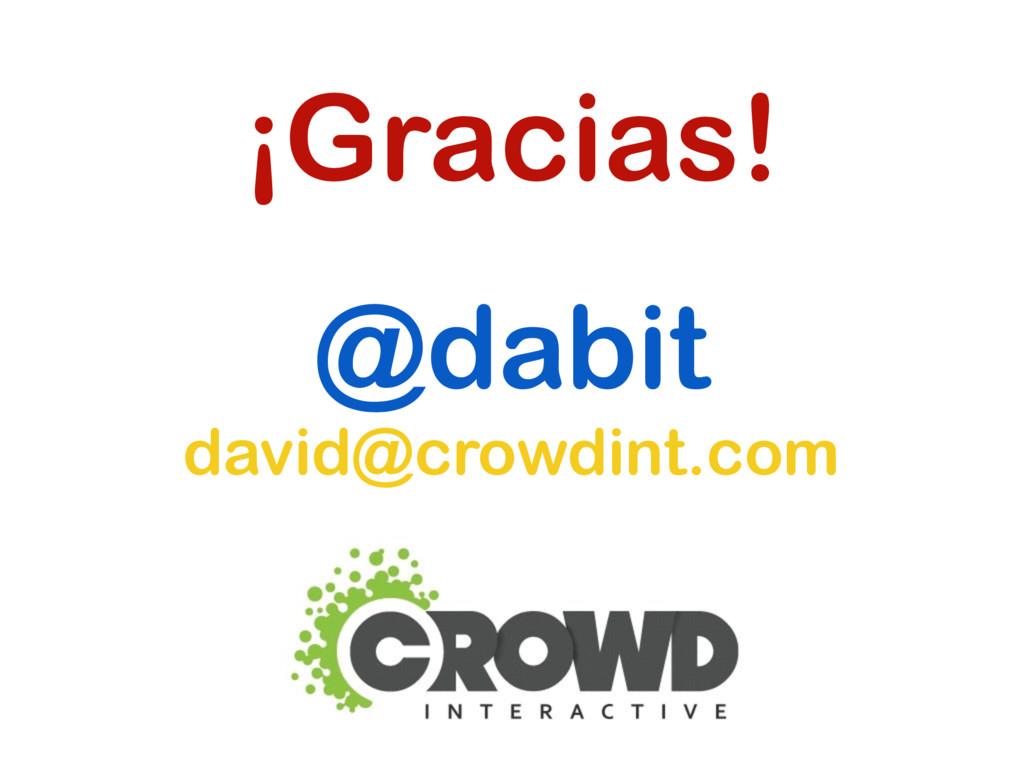 ¡Gracias! @dabit david@crowdint.com