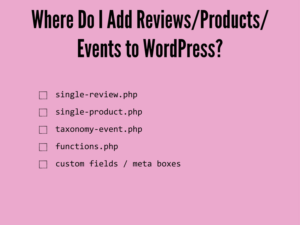 Where Do I Add Reviews/Products/ Events to Word...